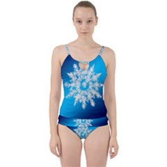 Background Christmas Star Cut Out Top Tankini Set