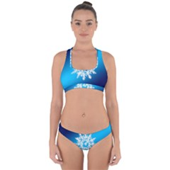 Background Christmas Star Cross Back Hipster Bikini Set