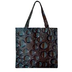Drop Of Water Condensation Fractal Grocery Tote Bag