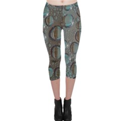 Drop Of Water Condensation Fractal Capri Leggings
