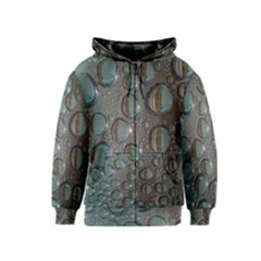 Drop Of Water Condensation Fractal Kids  Zipper Hoodie