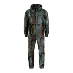 Drop Of Water Condensation Fractal Hooded Jumpsuit (kids)