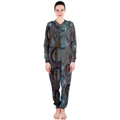 Drop Of Water Condensation Fractal Onepiece Jumpsuit (ladies)