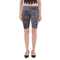 Drop Of Water Condensation Fractal Yoga Cropped Leggings