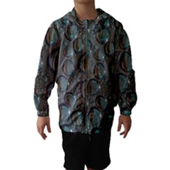 Drop Of Water Condensation Fractal Hooded Wind Breaker (kids)