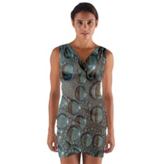 Drop Of Water Condensation Fractal Wrap Front Bodycon Dress