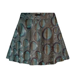 Drop Of Water Condensation Fractal Mini Flare Skirt