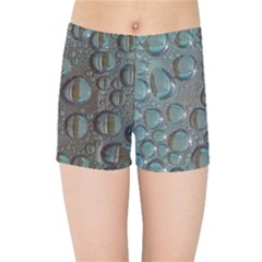 Drop Of Water Condensation Fractal Kids Sports Shorts