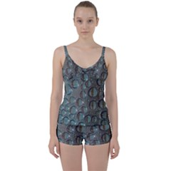 Drop Of Water Condensation Fractal Tie Front Two Piece Tankini