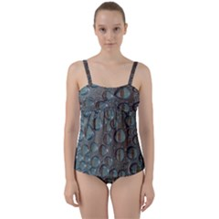 Drop Of Water Condensation Fractal Twist Front Tankini Set