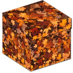 Fall Foliage Autumn Leaves October Storage Stool 12