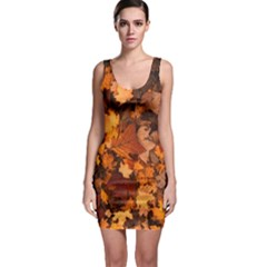 Fall Foliage Autumn Leaves October Bodycon Dress