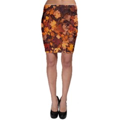 Fall Foliage Autumn Leaves October Bodycon Skirt