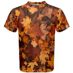 Fall Foliage Autumn Leaves October Men s Cotton Tee