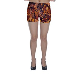 Fall Foliage Autumn Leaves October Skinny Shorts