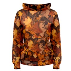 Fall Foliage Autumn Leaves October Women s Pullover Hoodie