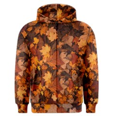 Fall Foliage Autumn Leaves October Men s Zipper Hoodie