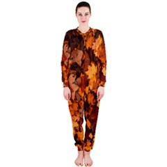 Fall Foliage Autumn Leaves October Onepiece Jumpsuit (ladies)