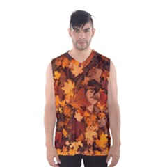 Fall Foliage Autumn Leaves October Men s Basketball Tank Top