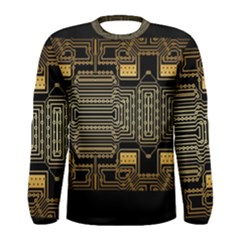 Board Digitization Circuits Men s Long Sleeve Tee
