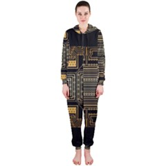 Board Digitization Circuits Hooded Jumpsuit (ladies)