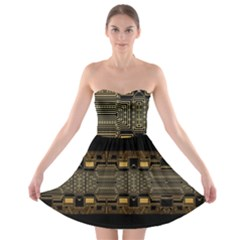 Board Digitization Circuits Strapless Bra Top Dress