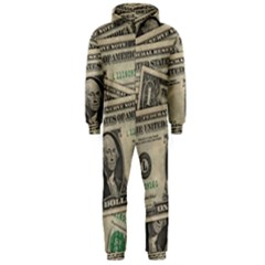 Dollar Currency Money Us Dollar Hooded Jumpsuit (men)