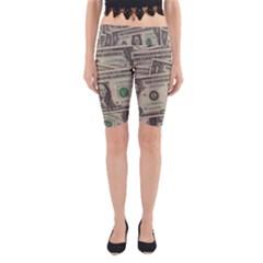 Dollar Currency Money Us Dollar Yoga Cropped Leggings
