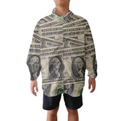 Dollar Currency Money Us Dollar Wind Breaker (kids)