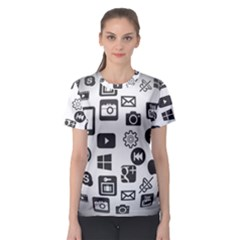 Icon Ball Logo Google Networking Women s Sport Mesh Tee