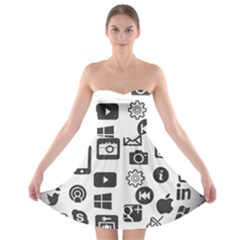 Icon Ball Logo Google Networking Strapless Bra Top Dress