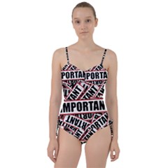 Important Stamp Imprint Sweetheart Tankini Set