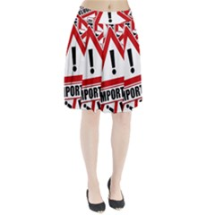 Important Stamp Imprint Pleated Skirt