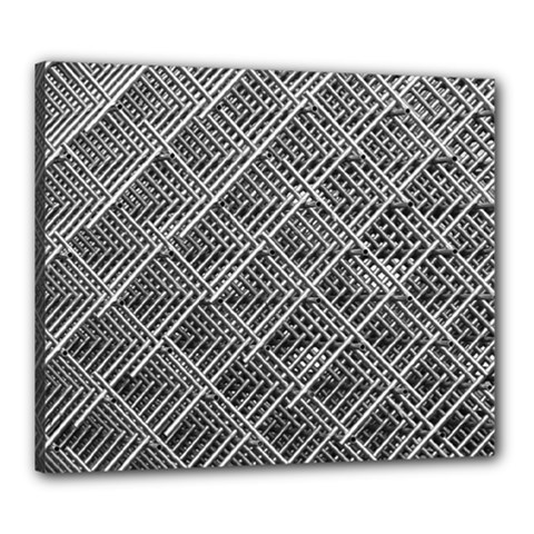 Grid Wire Mesh Stainless Rods Canvas 24  X 20