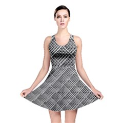 Grid Wire Mesh Stainless Rods Reversible Skater Dress