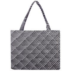Grid Wire Mesh Stainless Rods Mini Tote Bag