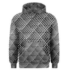 Grid Wire Mesh Stainless Rods Men s Pullover Hoodie