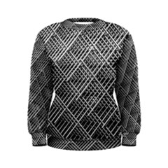 Grid Wire Mesh Stainless Rods Women s Sweatshirt