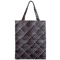 Grid Wire Mesh Stainless Rods Zipper Classic Tote Bag