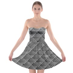 Grid Wire Mesh Stainless Rods Strapless Bra Top Dress