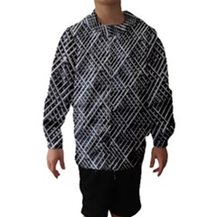 Grid Wire Mesh Stainless Rods Hooded Wind Breaker (kids)
