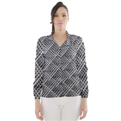 Grid Wire Mesh Stainless Rods Wind Breaker (women)