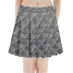 Grid Wire Mesh Stainless Rods Pleated Mini Skirt