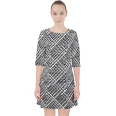 Grid Wire Mesh Stainless Rods Pocket Dress