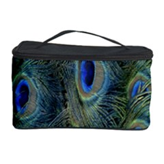 Peacock Feathers Blue Bird Nature Cosmetic Storage Case