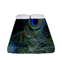 Peacock Feathers Blue Bird Nature Fitted Sheet (full/ Double Size)