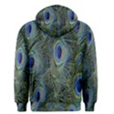 Peacock Feathers Blue Bird Nature Men s Pullover Hoodie View2