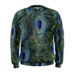 Peacock Feathers Blue Bird Nature Men s Sweatshirt