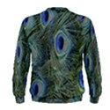 Peacock Feathers Blue Bird Nature Men s Sweatshirt View2