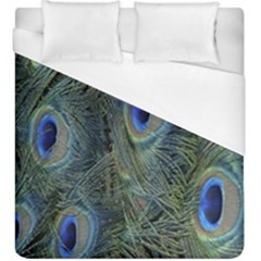 Peacock Feathers Blue Bird Nature Duvet Cover (king Size)